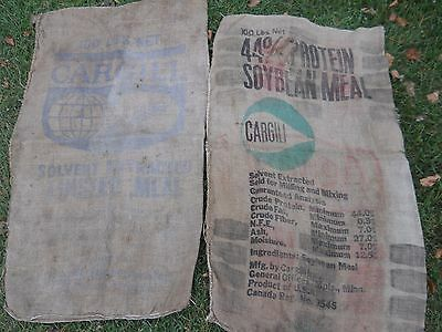 Lot of 10 Burlap Bags Gunny Sack, Feed, Potato, Coffee Beans