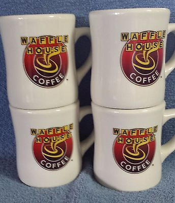 Waffle House Coffee Mugs Set Of Four Brand New Free Shipping