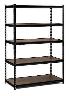 Edsal  72 in. H x 48 in. W x 24 in.5-Shelf Steel Commercial Shelving Unit Black