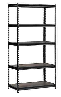Edsal 72 in. H x 36 in. W x 18 in. D Steel Commercial Shelving Unit Black X Rack