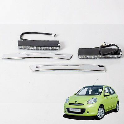 LED Daytime Running Lights Fit Nissan March K13 Micra 2010