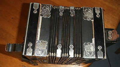 Vintage wooden Dudley The King of  Accordeon Made in Germany