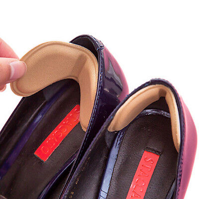 2x Sticky Fabric Shoes Back Heel Inserts Insoles Pads Cushion Liner Grips HighIO