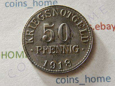 Coins Home 50 Pfennig 1918 BRUNSWICK Circulated Germany Notgeld Lotbm13 Ungraded