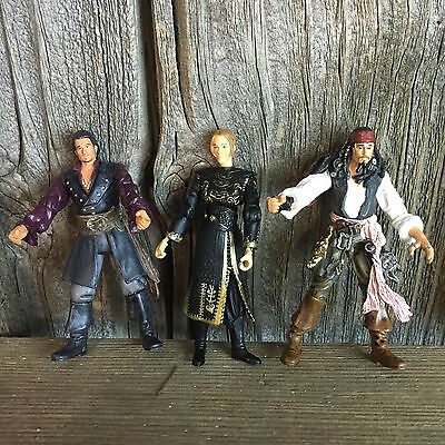 "4"" Jack Sparrow Zizzle Action Figure Disney Lot Of Pirates Of The Caribbean Toys"