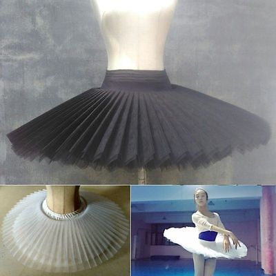 Professional Ballet Tutu 8 Layers Hard Organdy Platter Skirt Adult Ballet Costum