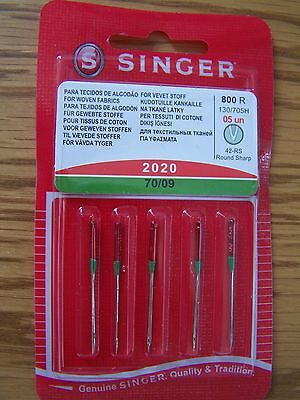 Singer Sewing Machine Needles 2020  Pack Of 5-70/09 For Wovens +  Free P/p