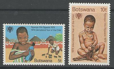 Botswana Sg452/3 1979 Year Of The Child Mnh