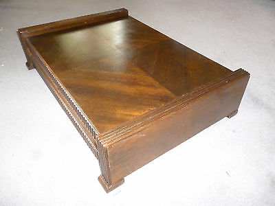 ART DECO LARGE WOODEN CUTLERY CANTEEN BOX - 58cm wide - no inside lining etc