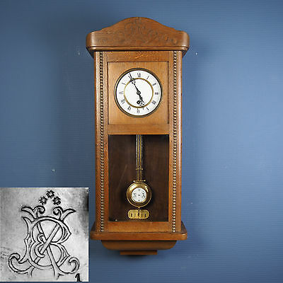 Beautiful rare Antique Silent Wall Clock from around 1890-1900