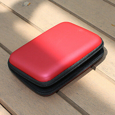Red Cable HDD Hard Disk Portable Power Hand Carry Bag Case Cover Deft