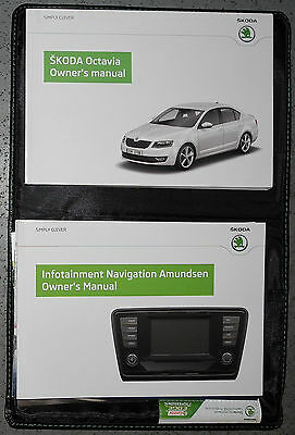 SKODA OCTAVIA HATCHBACK ESTATE HANDBOOK OWNERS MANUAL 2013-2016 CARS ref4950