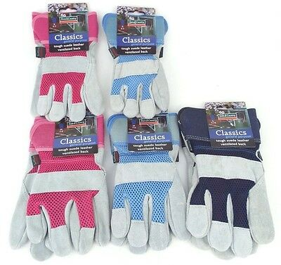 Town & Country Classics General Purpose Tough Suede Leather Vented Garden Gloves