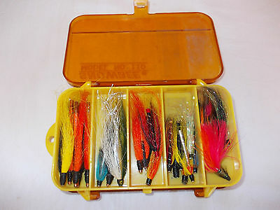 Vintage SNOWBEE Model No.110 Fly Box with + 42 Tube Flies & Other Lures.