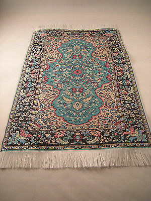 Miniature Persian Rug Woven Carpet Dollhouse Furniture Tablecloth Wall Hanging