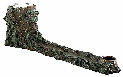 """GREENMAN INCENSE BURNER and Candle Holder, 10.5"""" Long, by Summit"""