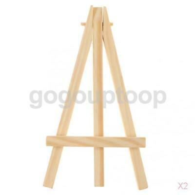 2 x Wooden Artist Mini Easel Stand Painting Canvas Craft Exhibit Display Holder