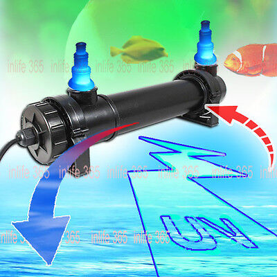 Aquarium Pond Fish Tank Sterilizer UV Lamp Light Clarifier For Filter Pump Steri