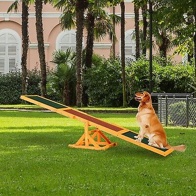 Dog Agility Seesaw Exercise Activity Outdoor Sport Canine Training Obedience Toy
