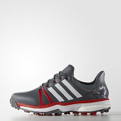 Adidas Adipower  boost 2 WD Golf Shoes 2 Year Waterproof 2016 Q44667 Onix/Red