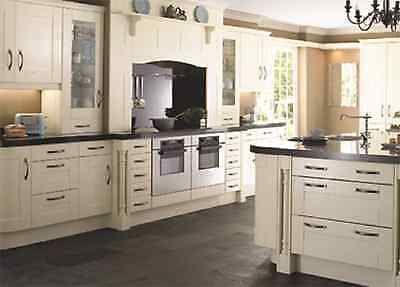 Malham Painted Ivory Solid Wood Door Replacement Kitchen Cabinet Doors Drawer