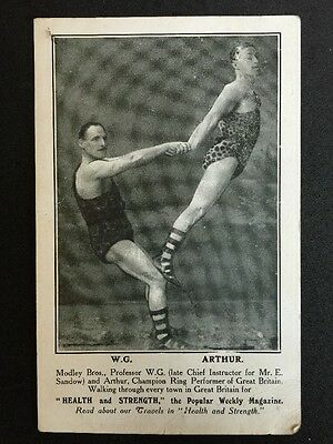 Vintage Postcard - Modley Bros - Champion Ring Performers - Health & Strength