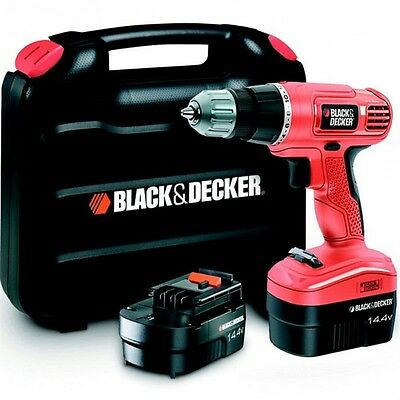 BLACK & DECKER Perceuse visseuse sans fil 2x14,4V 1,3Ah