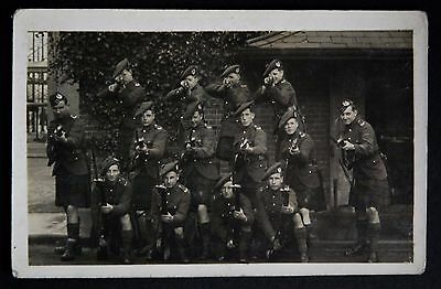 WW1 Postcard RP Unidentified Scottish Regiment Soldiers Rifle Fixed Bayonet