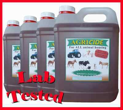 *NEW* Mixed fragrance box Agricide pet dog and cat Kennel disinfectant 4 x 5L