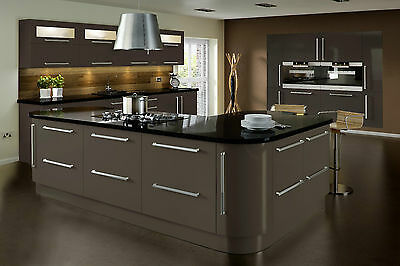 Lumi Grey High Gloss Door Replacement Kitchen Cabinet Doors Drawer Unit Fronts