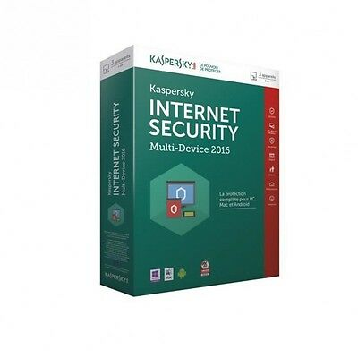 Kaspersky Internet Security 2016 3 Postes / 1 An M