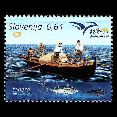 "Slovenia 2015 - EUROMED ""Boats of the Mediterranean"" Ships Art - MNH"