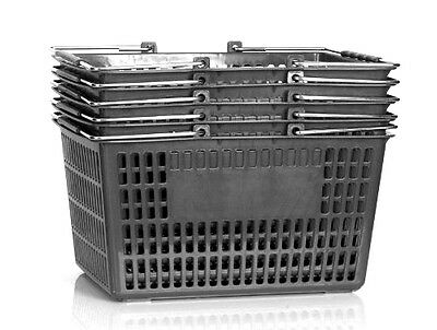 NEW Shopping Basket Set set of 6 black