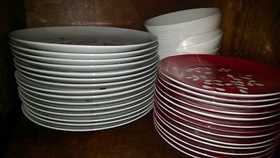 Dinner set Christmas large Family Red White Robin Next 44pcs collect only