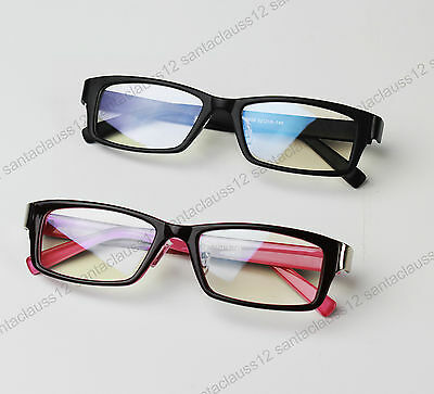 Mens Women's Clear Lens Fashion Glasses Black Pink Prescription Frames  UV400