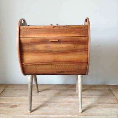 Mid Century vintage sewing box shabby chic project