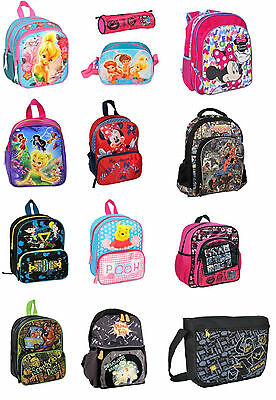 Disney Kids Boys Girls School Backpack Bag Rucksack Children Travel NEW Official
