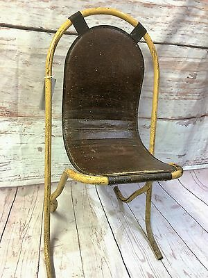 Original British 1950s Sebel Stak A Bye Tubular Steel Collectable Vintage Chair