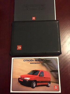 CITROEN BERLINGO HANDBOOK + AUDIO GUIDE + WALLET years 1997    2002