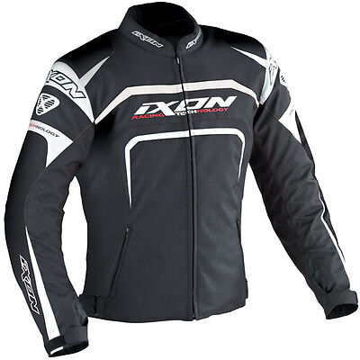 Ixon Eager Textile Sports Motorcycle Jacket - Black & White