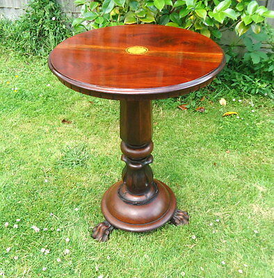 Regency. Occasional Table, Wine Table Mounted on Lions Paw Feet. Mahogany c1820.
