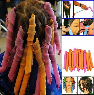 NEW 40PCS DIY Magic Leverag Hair Curlers Tool Styling Rollers Spiral Circle 55CM