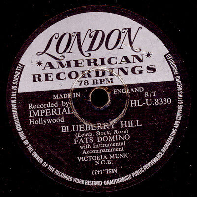 """FATS DOMINO  Blueberry Hill """"JUKEBOX-HIT"""" / I can't go on Schellackplatte  S9151"""