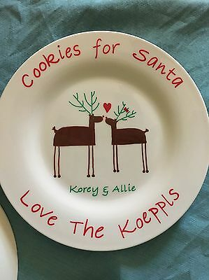 Personalized Holiday Cookie Plate Made To Order Cookies For Santa