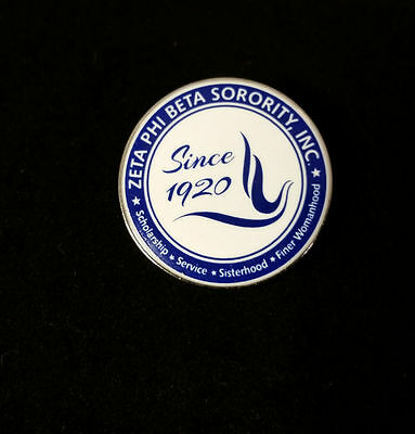 Zeta Phi Beta Sorority New Crest Lapel Pin-New!