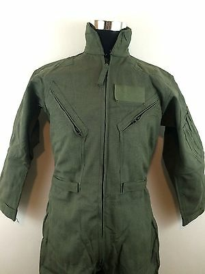 CWU-66/P Suit 40S Pilot Coveralls Chemical Protection Fire Resistant Sage Green