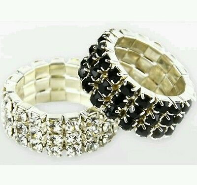 Lincoln Diamante Plaiting Bands - Pack Of 20 - Silver