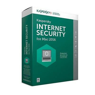 Kaspersky Internet Security pour MAC 2016  (1 poste / 1 an)