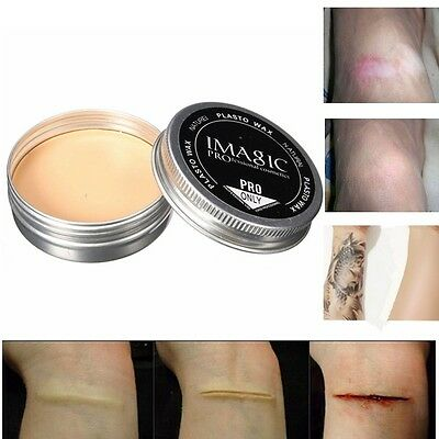 Halloween Makeup Tricky Scar Tattoo Cover Concealer Fake Would Skin Wax