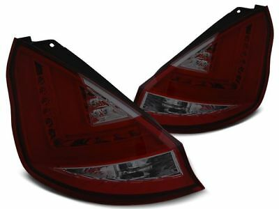 New Set Rear Tail Lights Rhd Ldfo50 Ford Fiesta Mk7 12-15 Hb Red Smoke Led Bar